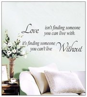 Wholesale Glue Findings - 2017 hot sale Love isn't finding Wall Stickers Quote Letters Words Removable Family Wall Vinyl Decal Room Home Art Decor