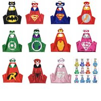Wholesale Kids Hero Halloween Costumes Girls - Halloween Costumes Kids Superhero Capes About 70*70 cm and Felt Masks Good Play Gifts For Boys and Girls In Birthday Party