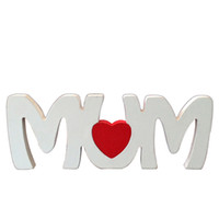 Wholesale Prop Articles - Mother's Day Photo Props Wooden English Letters Mum Table Ornaments Walls Decor Creative Mom Furnishing Articles