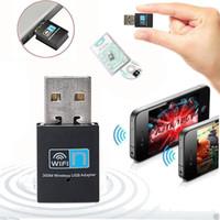 sinal wifi usb venda por atacado-300 m 802.11n / g / b T Mini placa de rede sem fio USB Wi-fi receptor transmissor de sinal de mesa WLAN Adaptador USB sem fio wi-fi n cartão de rede