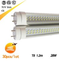 Wholesale IN STOCK T8 LED Tubes ft m mm Double row line LED Tube Bulbs Lights Super Bright W AC110 V