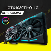 Wholesale Graphic Cards Hdmi - ASUS ROG STRIX GTX1080Ti-O11G GAMING Overclocking Raptor Graphics Card Republic Of Gamers Game Desktop Computer Super Graphics Card King