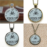 Wholesale poison ivy - 10pcs Poison Spooky Halloween Jewelry goth Poison Ivy Pendant Jewelry glass Necklace keyring bookmark cufflink earring bracelet