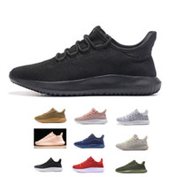 Wholesale Knitted Fall - 2017 Tubular Shadow Knit ultra boost 350 Sneaker MEN'S & Women's Running fashion Sport Shoes all black whiite gold