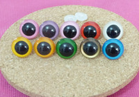 Wholesale Plastic Safety Eyes 12mm - 9mm 10mm 12mm 13mm 14mm multicolor plastic toy safety eyes with white color washer for decoration doll accessories---40pcs lot