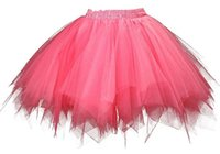 Wholesale Girls Tutu S Cheap - Adult Teen pettiskirt tutu dress plus size tulle Vintage 80 60 50s Cheap hoopless modern girl bridal lady formal skirt with sashes