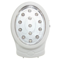 Wholesale Pl Led Lamps - Wholesale- Promotion Natural White 13 LED Rechargeable Home Wall Emergency Automatic Power Failure Outage Night Light Lamp 110~240V EU pl