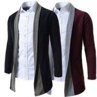 Wholesale Xxl Mens Knit Cardigan - Wholesale- 2015 New Brand 2 Color Good Quality Fashion Business & Daily Cardigan Mens Sweaters Slim fit Casual Man Outerwear M-XXL