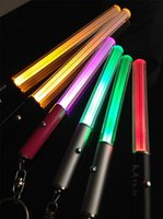 Wholesale Lightsaber Wholesale - Wholesale LED Flashlight Stick Keychain Mini Torch Aluminum Key Chain Key Ring Durable Glow Pen Magic Wand Stick Lightsaber LED Light Stick