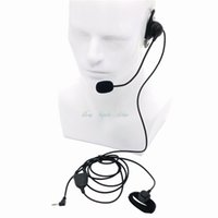 Wholesale headset ptt - New 1 Pin Earhook Earpiece Headset with Mic and Finger PTT for Motorola Talkabout Portable Radio TLKR T3 T4 T60 T80 MR350R FR50