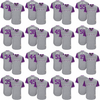 Wholesale Colorado Shorts - 19 Charlie Blackmon Chuck Nazty 2017 Little League World Series Players Weekend Greg Holland Jon Gray Chris Rusin Colorado Rockies Jersey