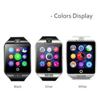 Wholesale gps sms tracker watch - Hot selling Bluetooth Smart Watch Q18 With Camera Facebook Whatsapp Twitter Sync SMS Smartwatch Support SIM TF Card for xiaomi phone PK DZ09