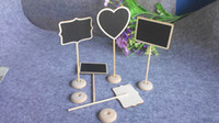 Wholesale Blackboard Table - White Framed Scroll Wood Mini Blackboard Chalkboard Stand Wedding Decoration Table Number Place Holder Food Labels