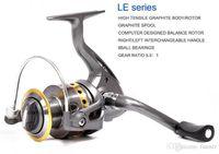 Wholesale metal gear free - Spinning Reel 8 Ball Bearings 5.5:1 Gear Ratio Metal Spinning Reel Fishing Tackle free shipping