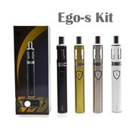 Wholesale Ecigarette Led - New Yesgo Ego-S Kit Innovative Vape Pen Subtorch Starter Kit Atomizer Core 1100mah Newest Ecigarette Low Resistance LED Button
