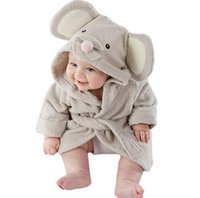 Wholesale Kids Bathrobe Animal Characters - Fashion Designs Hooded Animal Modeling Baby Bathrobe Cartoon Baby rope Character Kids Bath Robe Infant