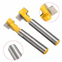 Wholesale 2pcs mm and mm Keyhole Blades T Slot Cutter Woodworking Router Bits Set