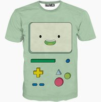 Wholesale Adventure Time Finn - Adventure Time T shirt Finn short sleeve gown Leisure tees Cartoon printing clothing Unisex cotton Tshirt