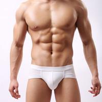triangle sous-vêtements hommes achat en gros de-3 Pcs / lot Triangle Hommes Briefs Modal respirant Slip doux Modal Sexy Sous-Vêtements Hommes Briefs