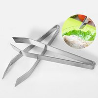 Wholesale Stainless Steel Fish Bone Remover Pincer Clip Plucking Clamp Puller Tweezer Tongs Fish Bone Kitchen Gadgets