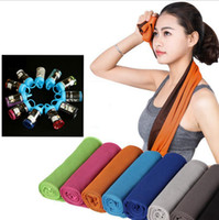 Wholesale Magic Cool Towel Wholesale - Magic Cold Towel Exercise Fitness Sweat 30*100cm Double Layer Ice Towel Outdoor Sports Ice Cool Towel Cooling Towels OOA1891
