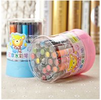 Wholesale 24 36 Painting - 12 18 24 36 colors Water Color Pen Brush Marker Washable Art Supplies School Children Student Kids Stationery Markers Painting drawing
