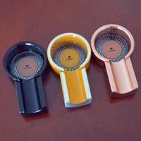 Wholesale Cohiba Cigar Ashtrays - COHIBA Mini Titanium Alloy Travel Use Four Color Cigar Ashtray One Holder