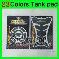 Wholesale Sticker Yamaha - 23Colors 3D Carbon Fiber Gas Tank Pad Protector For YAMAHA YZFR6 98 99 00 01 02 YZF-R6 YZF R6 1998 1999 2000 2001 2002 3D Tank Cap Sticker