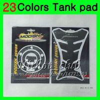 yamaha yzf r6 98 al por mayor-23Colors Protector de la almohadilla del tanque de gas de fibra de carbono 3D para YAMAHA YZFR6 98 99 00 01 02 YZF-R6 YZF R6 1998 1999 2000 2001 2002 3D Etiqueta engomada de la tapa del tanque