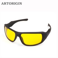 Wholesale Anti Glare Driving Glasses - Wholesale-Brand AREORIGIN Hot Sale Night Driving glasses Anti Glare Glasses For Safety Driving Sunglasses Yellow Lens Night Vision Goggles
