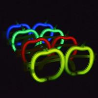 apfelförmige gläser großhandel-Kunststoff PE Brille Apple Shape Eco freundliche Brille ohne Leuchtstab Brillen für Stimm Konzert Party Dekoration 0 37wy