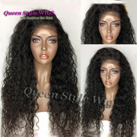 Супер натуральный бразильский девичий волос Curly Texture Hair Wig Synthetic Long Black 1B Color Kinky Curly Full Hair lace Front wig