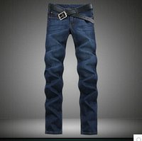 Wholesale Cheap Skinny Legs Jeans - Wholesale- Good quality Free shipping 2017 new large size extended edition 120cm Men's Slim long legged jeans size 28-44 Cheap wholesale
