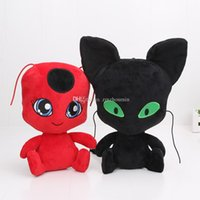 Wholesale anime girl big - Anime Miraculous Ladybug plush toys Ladybug Girl Cat Noir plush Toy Doll Lady Bug Adrien Marinette Plagg Tikki Plush Doll
