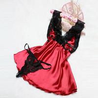 Wholesale Plus Lingerie Red Babydoll - NEW Sexy Lady Lingerie Women Nightwear Lace Babydoll G-string Sleepwear Plus Size