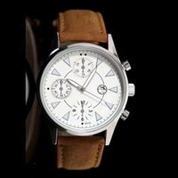 Wholesale Christmas Decorations Black - Hot Men's Watch Fashion Round Leather Band Date Display Function Dial and Sub-Dials Decoration Casual Luxury Quartz Wristwatches for Men