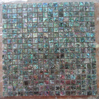 Wholesale Seashell Tiles - Green Abalone Seashell Mosaic Tiles backed by Ceramic Tiles, Brick pattern and Square pattern available