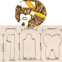 ingrosso spazzolino da metallo-3 pz denti metallo biscotto premere dentifricio spazzolino biscotto maker fondente taglierina toppers cupcake bakeware