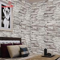 decalques de vinil de cozinha venda por atacado-5 metros wc adesivos autoadesivo vinil 3d tijolo do vintage papel de parede para sala de estar cozinha adesivo de parede à prova d 'água decoração da casa decalque