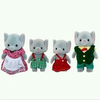 Wholesale Elephant Family Original Sylvanian Family Mini Size Figures Anime Cartoon Figures Toys Child Toys Gift