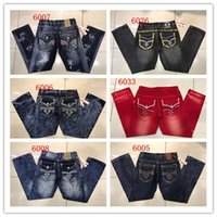 Wholesale Fashion Mens Robin Rock Revival Jeans Street Style Boy Jeans Denim Pants Designer Trousers Men s Size New