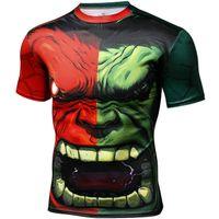 Wholesale Hulk T Shirts - Hulk T shirt Robert Bruce Banner short sleeve gown Super hero casual tees Street printing clothing Unisex cotton Tshirt