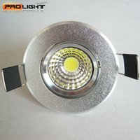 Wholesale Downlight Out - Wholesale- 10pcs 3W 5W cut-out 55MM LED COB downlight Recessed LED Ceiling light Spot Light Lamp epistar chip led lamp