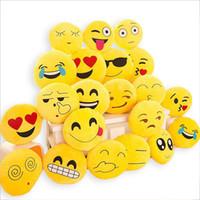 Wholesale Round Seat Pillow - Cute Soft Emoji Cushion Smiley Seat Cushions Pillow Facial Emotions Pillow Round Cushion Stuffed Plush Toy Gift for Kids 33*33cm