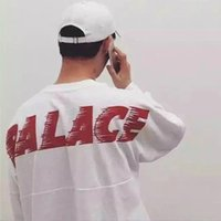 Wholesale Batwing Sleeve Hoodie - 2017 PALACE Skateboard Sweatshirt Men Women Long Sleeve O-Neck Pullover Hoodie Letters Print Oversized Hip Hop Hoodies Cotton PXG0740