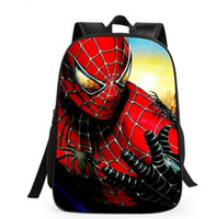 обратная картина мешка оптовых-мультфильм Новый Человек-Паук узоры рюкзаки s для мальчиков обратно в школу дети рюкзаки Супермен школьные сумки