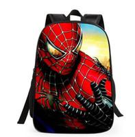 Wholesale Spiderman Bags Wholesale - cartoon new Spiderman Patterns backpacks s for boys Back to School kids Backpacks Superman School Bags
