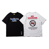 Wholesale Rabbit Tee Shirt - Fragment Design T Shirt Men Women High Quality Smoking kills fr2 Rabbit Fragment Top Tees Fragment Design T Shirt