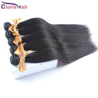 Wholesale Remi Brazilian Hair Weave - Retail 1 Bundle of Brazilian Straight Hair Weave Weft Cheap Silky Straight Remi Human Hair Extensions 100g Natural Black Fast Delivery