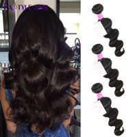 Fastyle Peruvian Body Wave Extensions Natural Black 3pc / lot UNPROCESSED Brazilian Indian Malaysian Virgin Hair Bundles Dyeable Cheap